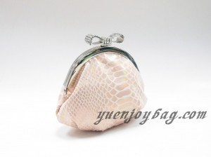 Snake Skin Embossed PU Leather little coin purse side view