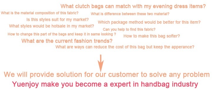 Yuenjoy make you become a expert in handbag industry
