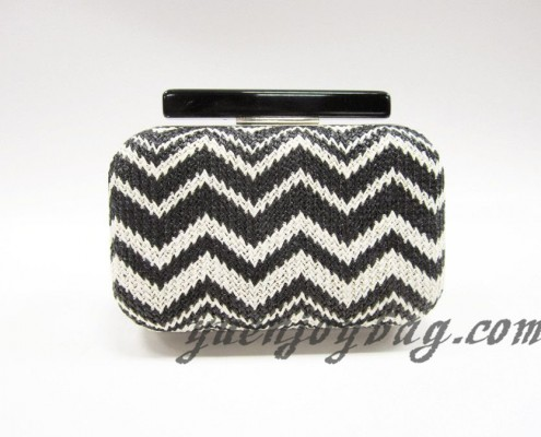 Aztec Knitting Pattern : Black White knitted Tribal aztec patterns evening purse supplier Yuenjoy Bag