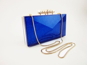 Celebrities Neon Candy color transparent clear acrylic clutch bag with gold metal frame