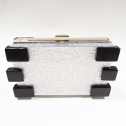 Brand Design fashion acrylic box frame clutch handbag with chain from evening bag manufacturer