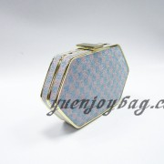 Check pattern plaid glitter shiny bling party clutch handbag from China manufacturer - side view
