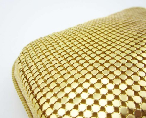 Gold aluminium mesh small iphone cell phone wallet case coin puse