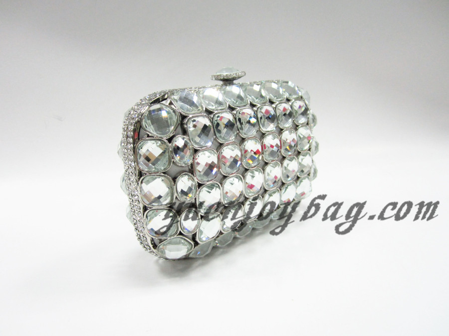 ... Wholesale Celebrities luxury crystal rhinestone evening metal box  clutch handbag from manufacturer - side view ... 719d46fc57360