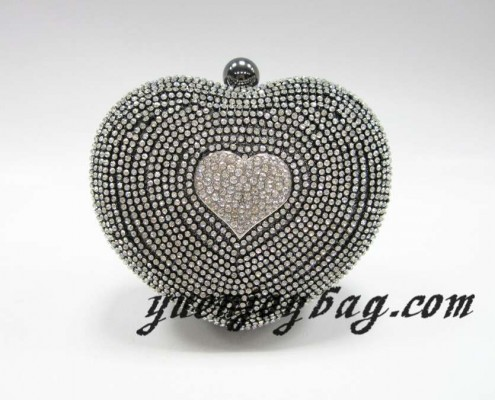 New fashion gray heart shaped clutch bag