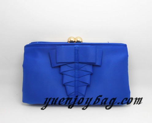 Royal blue bridal kiss lock frame clutch bags